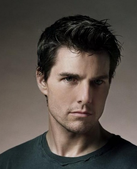 Tom Cruise Short/Medium Swooshed Hairstyle Yeshairstyles