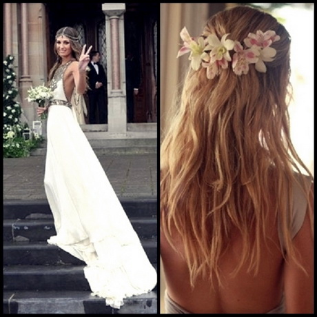 Bohemian Wedding Hairstyles For Long Hair | Impian Wedding Trends 2015