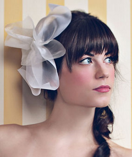 Bridal hairstyles with bangs - photo #9