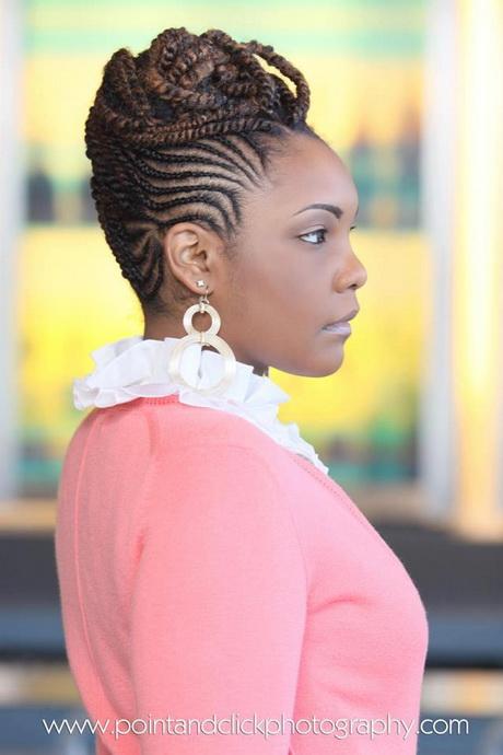 black flower girl hairstyles : Cornrow braids hairstyles for black women