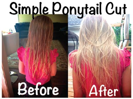 diy ponytail haircut for medium length hair diy layered haircut