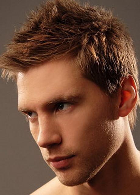 Короткие мужские прически для прямых волос