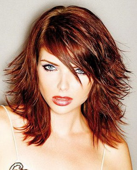 medium length hairstyles with layers Medium-short, choppy, layered hairstyles by serena styles these hairstyles incorporate the use of choppy cuts between short and medium length, creating a bold look.