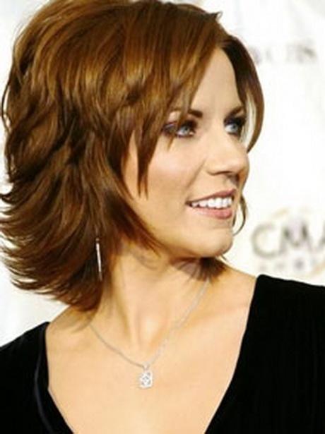 Medium short layered hairstyles
