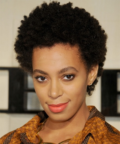 Natural short black hairstyles women