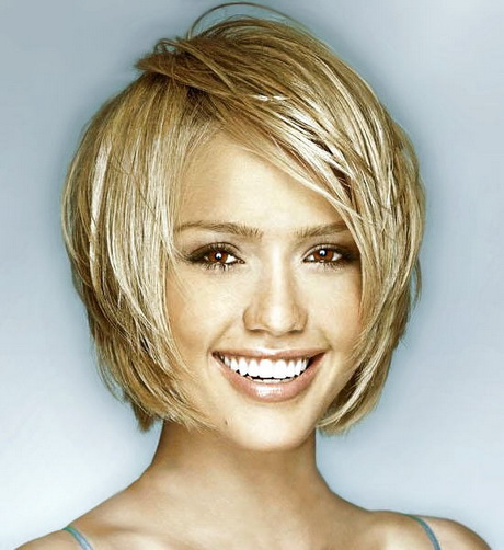 Short hairstyle for oval face