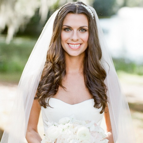 Wedding hair down with veil 30 hottest wedding hairstyles with veil junglespirit Choice Image