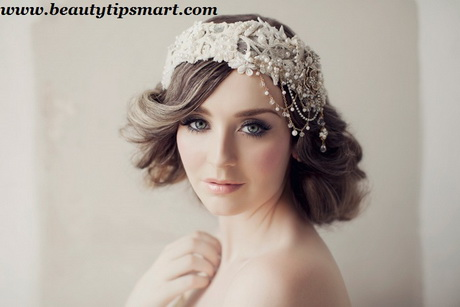 Beautiful Wedding Headpieces For Brides Short Hair