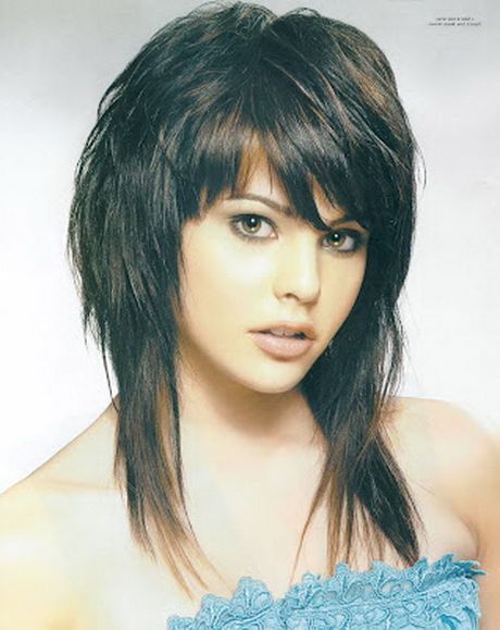 Choppy Shoulder Length Hairstyles With Bangs