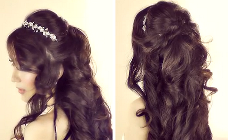 Prom Hairstyles For Medium Hair Half Up Down With Poofdemi