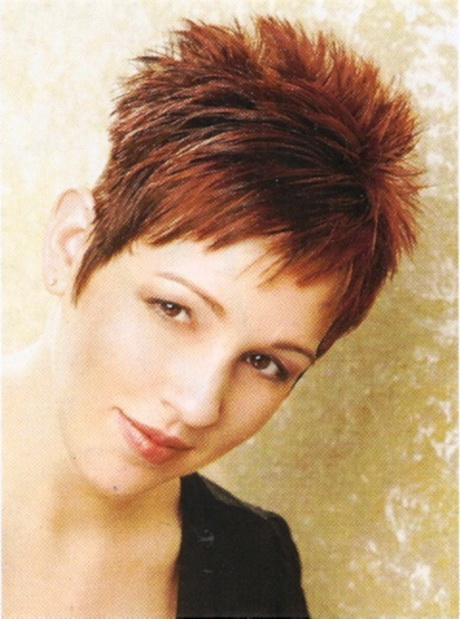 Short Hairstyles: Orange Hair Color Ideas Very Short Spiky