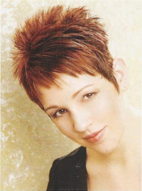 Spiky short hairstyles for women