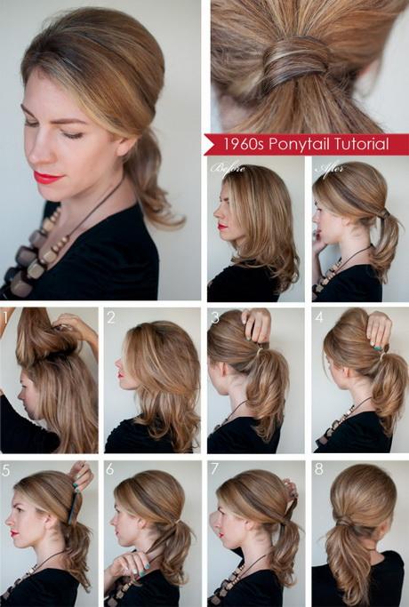 Причёска на средние волосы своими руками 98