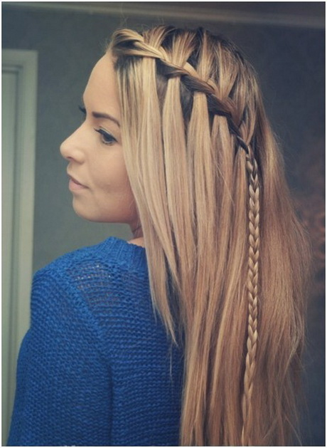Prom Hairstyles For Long Straight Hair With Braids Picture Of Cute