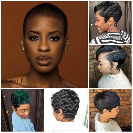 Short hairstyles black hair 2018