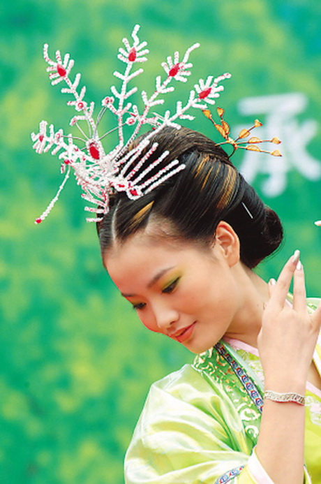 Chinese girls traditional hairstyle