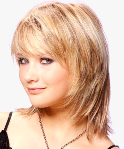 Medium Hairstyle With Soft Bangs Hair Messy 2016