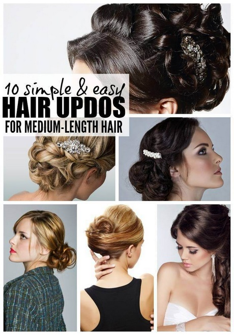 Awesome Quick Easy Hairstyles For Medium Length Hair Gallery