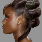 Black people updo hairstyles