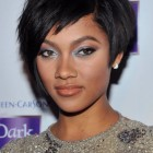 Black short hairstyles with bangs