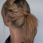 Braid and ponytail hairstyles