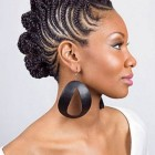 Braided hairstyles on black hair