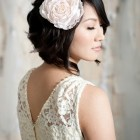 Bridal hairstyle short hair