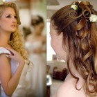 Bridal hairstyles for long curly hair
