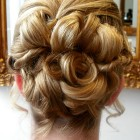 Brides hair up