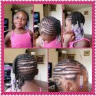 Children braiding hairstyles