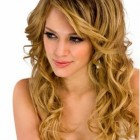 Curly hairstyle long hair