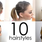 Daily hairstyles for medium hair