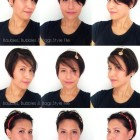 Different ways to style short hair