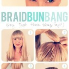 Easy braid hairstyle