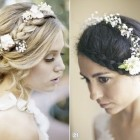 Flowers in hair for wedding