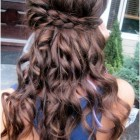 Hairstyles with braids and curls