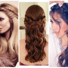 Half braided hairstyles