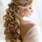 Half up bridal hairstyles