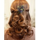 Half updos for weddings