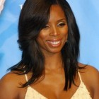 Long layered black hairstyles