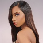 Long straight black hairstyles