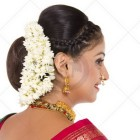 Marathi bridal hairstyle