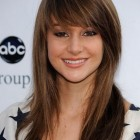 Med length haircuts with bangs