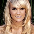 Medium length haircuts for women with bangs