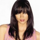 Medium length haircuts with side bangs and layers