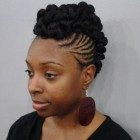 Natural braided hairstyles for black women