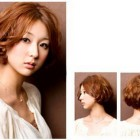 Permed short hair styles