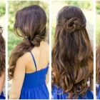 Quick and easy hairstyle for long hair