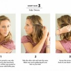 Simple hairstyle for short hairs