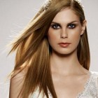 Straight bridal hairstyles